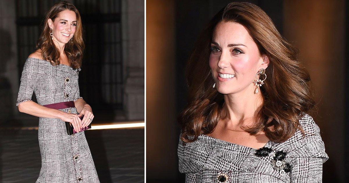 kate middleton 3.jpg?resize=648,365 - Kate Middleton Wears Erdem Dress As She Arrives At The Victoria & Albert Museum
