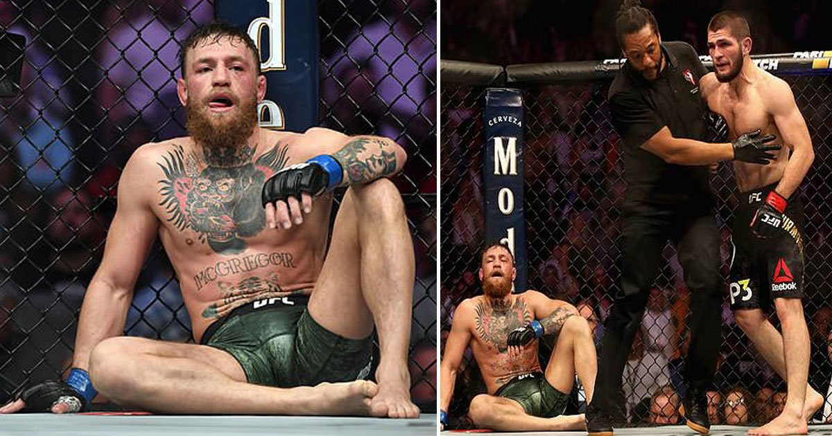 khabib conor.jpg?resize=648,365 - Conor McGregor Suspended For One-Month By UFC On Medical Grounds After Khabib Defeated Him At UFC 229