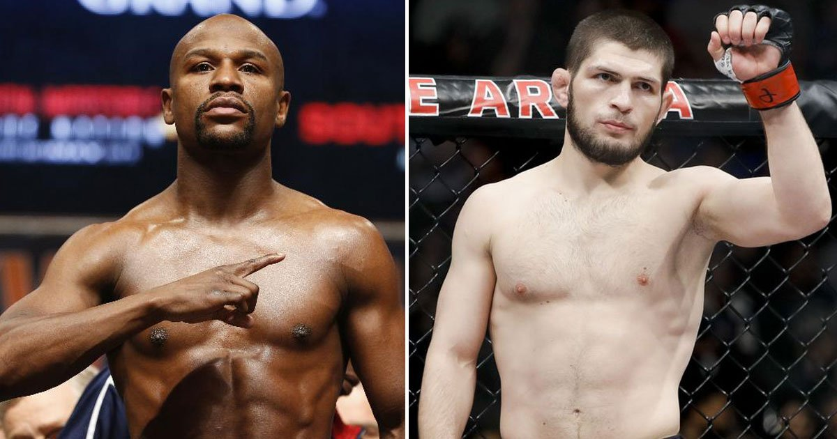 khabib floyd.jpg?resize=636,358 - 'Let's Make Las Vegas Great Again', Says Floyd Mayweather After Accepting Khabib Nurmagomedov's Challenge To Fight