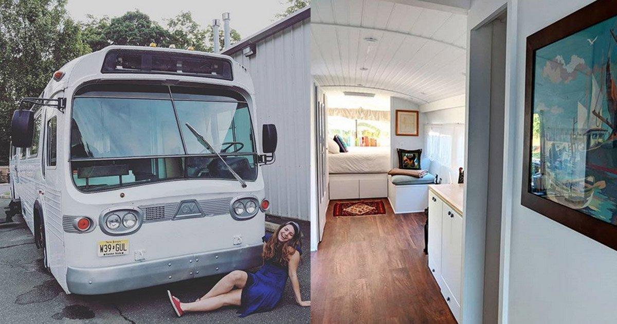 mainphoto bus.jpg?resize=1200,630 - [Photos] Elle transforme un vieux bus en une incroyable maison.