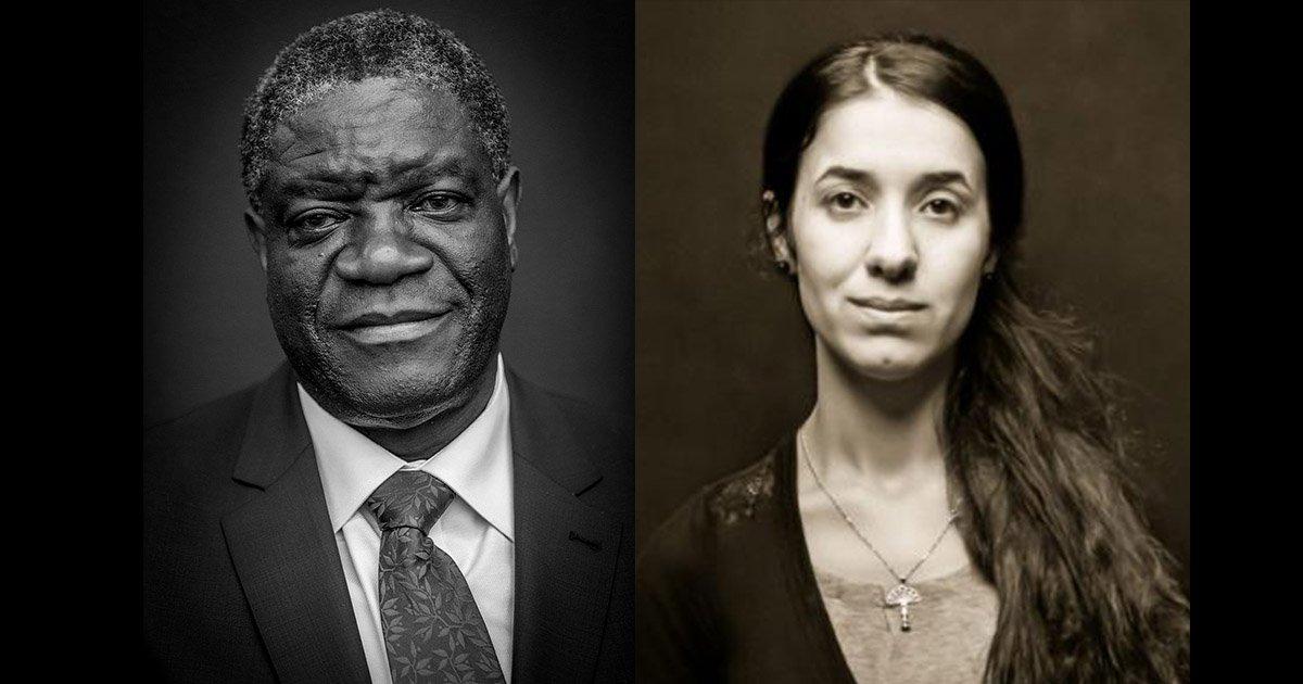 mainphoto nobel.jpg?resize=636,358 - Qui sont Denis Mukwege et Nadia Murat, les deux lauréats du prix Nobel de la paix 2018?