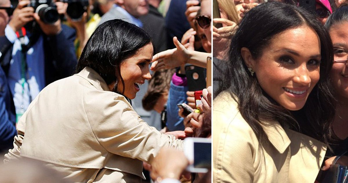 meghan markle 6.jpg?resize=1200,630 - Prince Harry Spotted A Girl Who Looked Just Like Meghan During Walkabout In Sydney