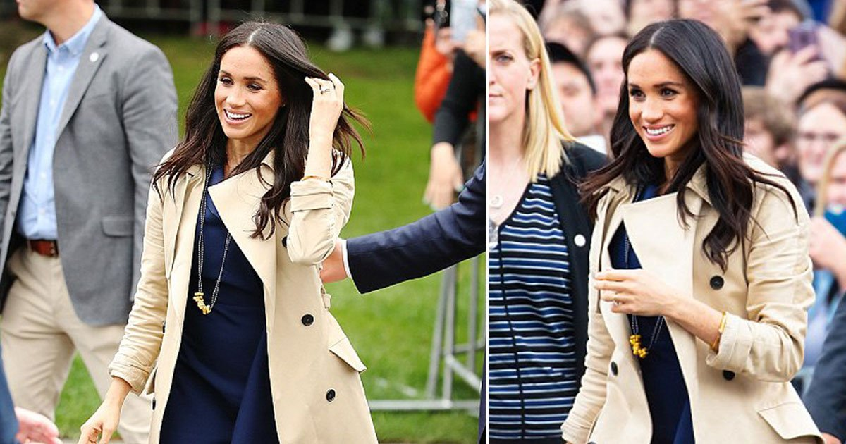 meghan markle 7.jpg?resize=636,358 - Meghan Markle Sports A Necklace Made From Pasta Crafted By A Six-Year-Old Boy