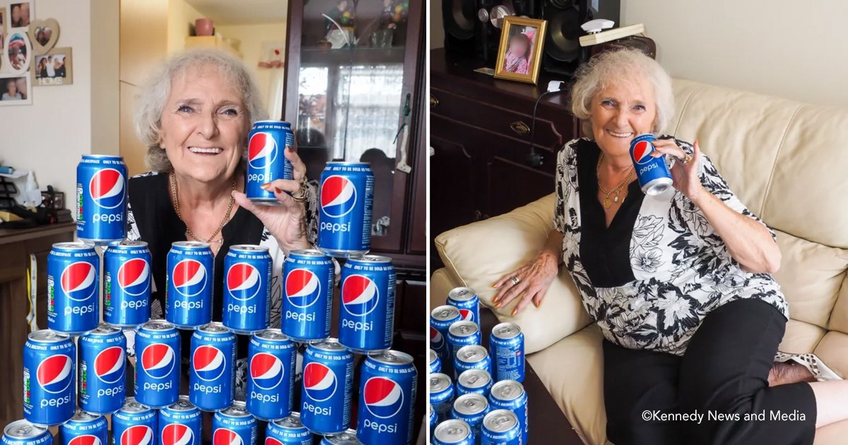 pepesi.jpg?resize=412,232 - Esta abuela dice que no ha bebido nada más que Pepsi desde 1954