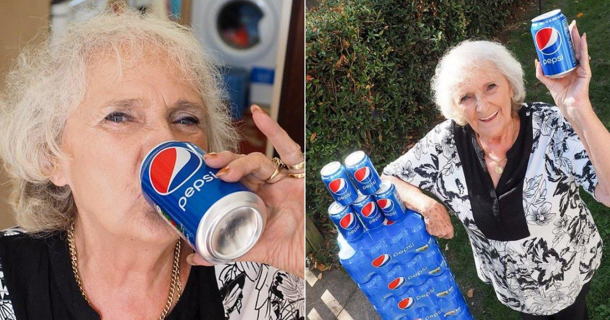 pepsi7.png?resize=412,232 - Une arrière-grand-mère de 77 ans boit quatre canettes de Pepsi par jour depuis 64 ans