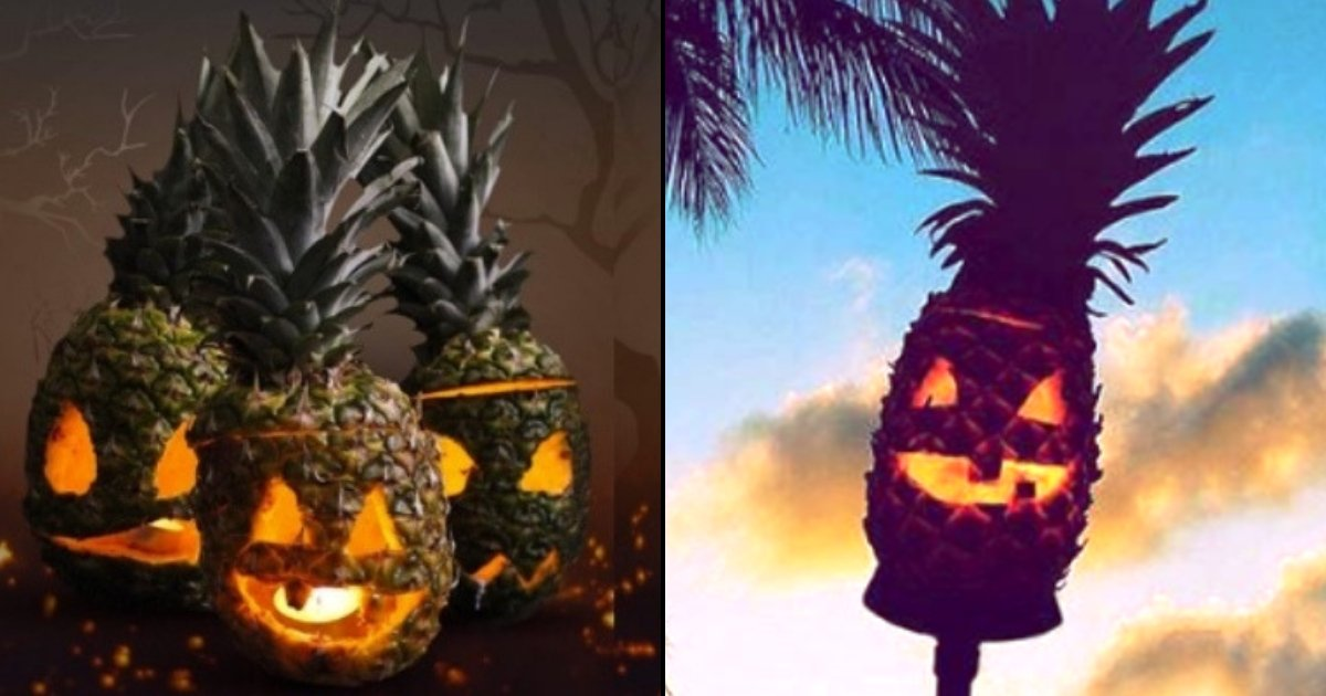 pineapple5.jpg?resize=1200,630 - People Are Now Carving Pineapples For Halloween And They Are Way More Terrifying