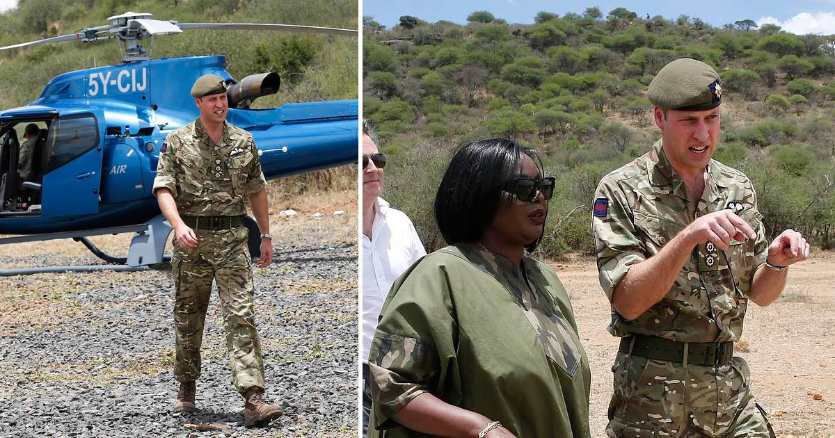 prince william kenya.jpg?resize=636,358 - Prince William Wears His Army Uniform On His Visit To The Irish Guards In Kenya
