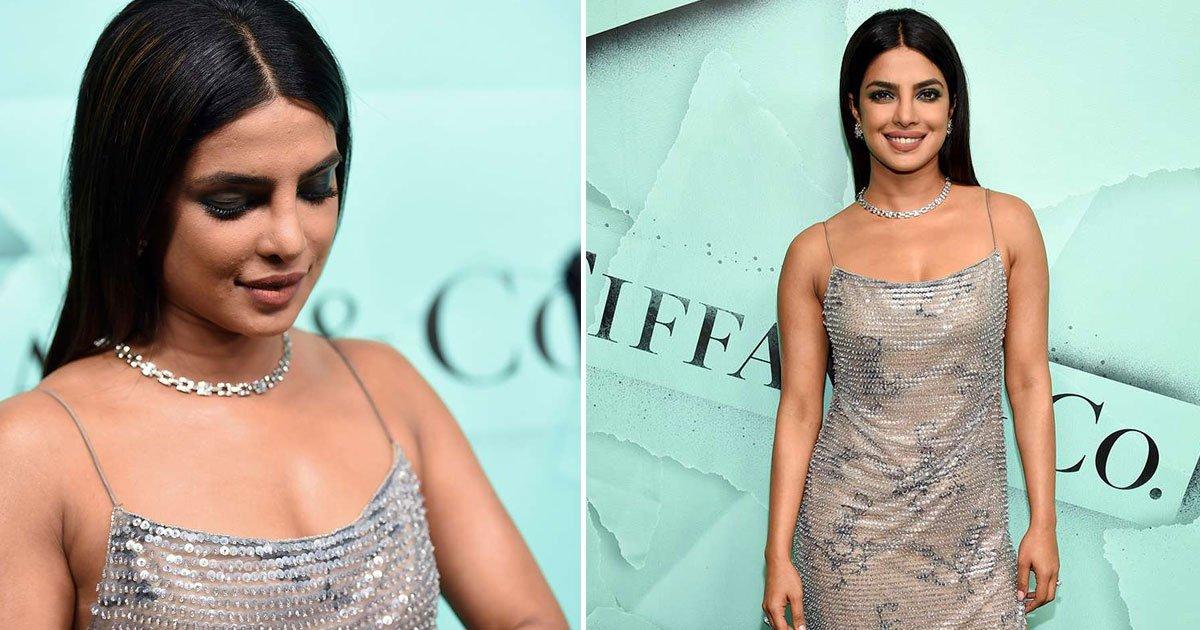 priyanka chopra.jpg?resize=648,365 - Priyanka Chopra Sizzles In A Glittering Gown At Tiffany Blue Book Collection Launch