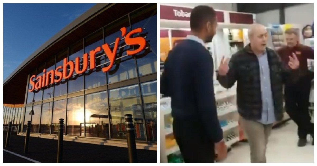 racist.jpg?resize=412,232 - Old Man Goes On A Racist Rant Against A Sainsbury's Security Guard Until He's Escorted Out