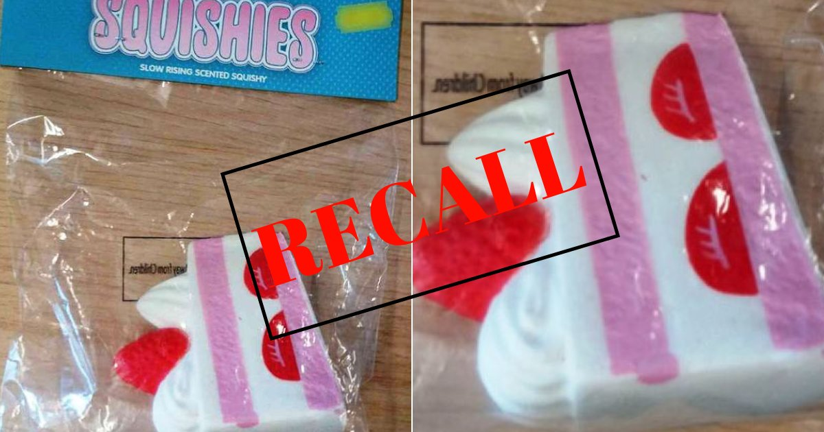 recall.png?resize=636,358 - Children's Squishies Cake-Shaped Toy RECALLED Over Fears Kids Could Swallow And Choke On It