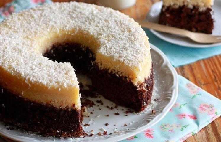 receitas de bolo prestigio3.jpg?resize=636,358 - Delícia: Aprenda como fazer bolo prestígio assado com recheio de forma rápida e prática