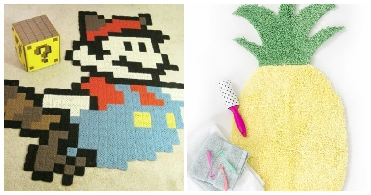 rug.jpg?resize=1200,630 - 23 DIY Rugs That Are (Almost) Too Cute To Step On