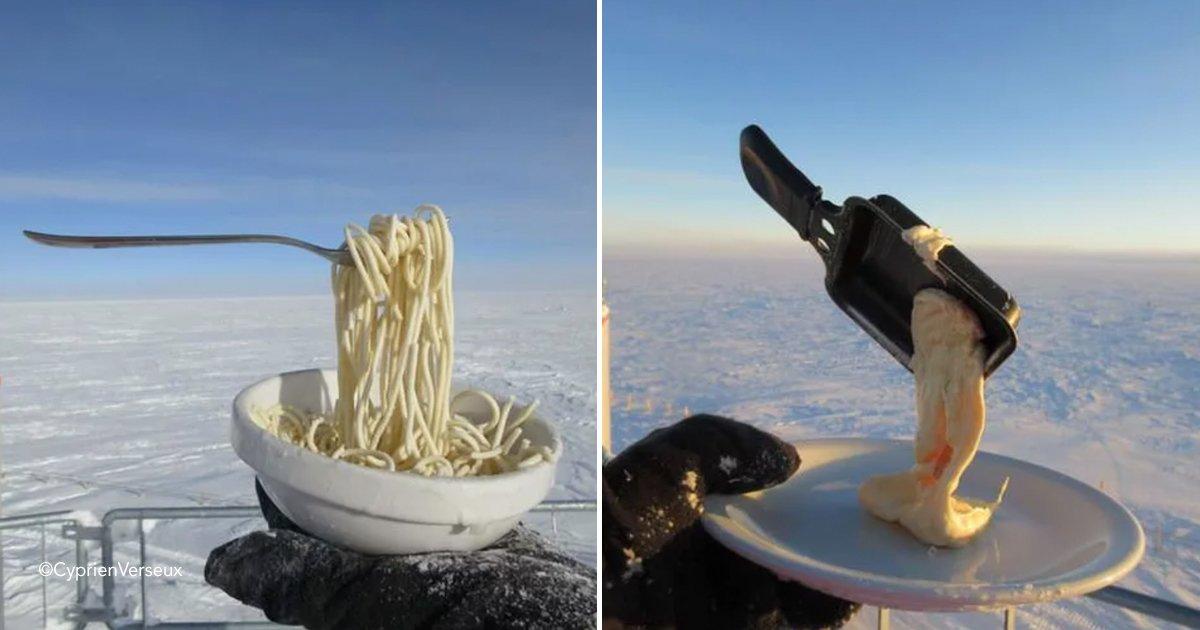 sapaguuere.jpg?resize=412,232 - ¿Qué sucede cuando intentas cocinar una comida caliente en la Antártida?