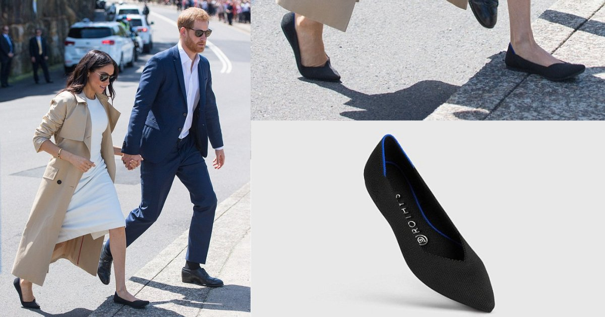 shivam2 8.png?resize=1200,630 - Pair Of Black Flats The Duchess of Sussex Wore In Sydney Are Actually Made Of Recycled Plastic Bottles