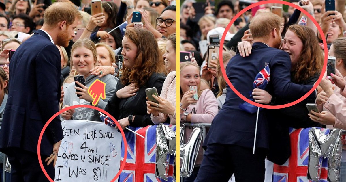 shivam2 9.png?resize=412,275 - Prince Harry Broke The Royal Protocol To Give A Hug To His Fan