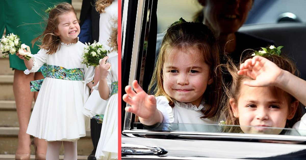 shivam3 4.png?resize=300,169 - Photos of Princess Charlotte Adorably Waving at Princess Eugenie's Nuptial Prove She's Officially a Royal Wedding Pro