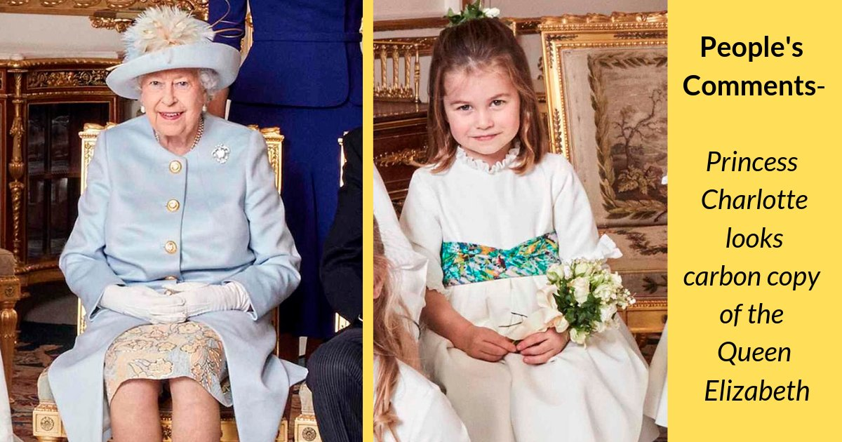 shivam4 5.png?resize=412,232 - People Spot Kate and William's 3-year-old Striking a Near-Identical Pose to the Queen, as they Discuss How Alike they are