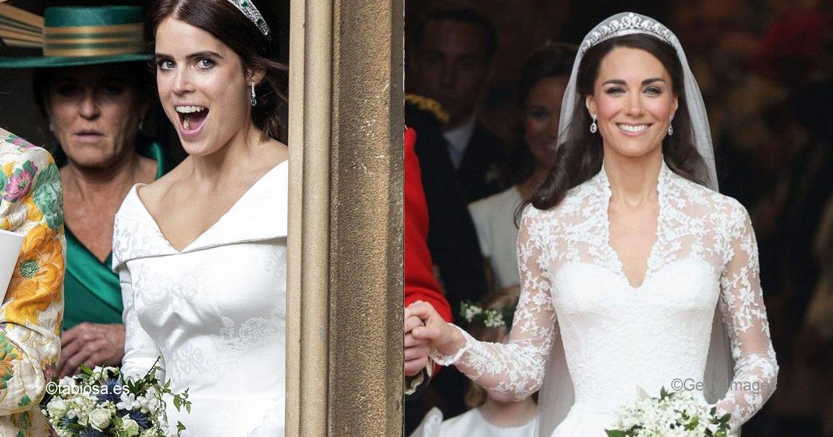 sin titulo 1 45.jpg?resize=648,365 - Los vestidos de novia de Eugenia, Kate y Meghan tienen un gran parecido: ¿Cuál es más elegante?