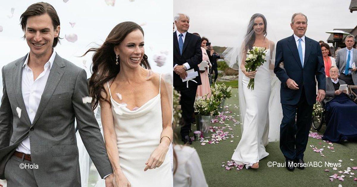 sin titulo 1 46.jpg?resize=648,365 - Se casó la hija del expresidente George W. Bush y las imágenes han causado polémica