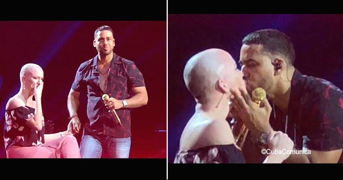 sin titulo 1 47.jpg?resize=412,232 - Romeo Santos subió al escenario a una fanática que sobrevivió al cáncer y le cantó de manera única