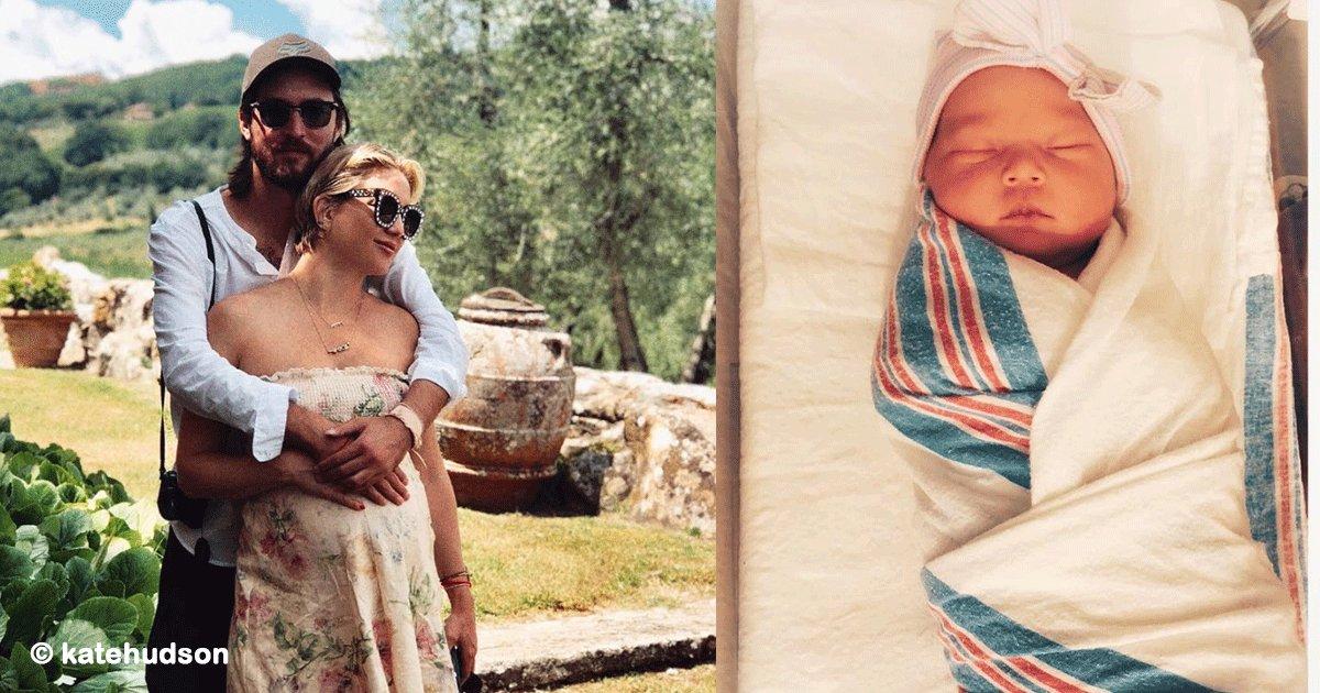 sin titulo 1 56.png?resize=1200,630 - Kate Hudson compartió las fotos de su hermosa bebé, su primera hija y causó furor en Instagram
