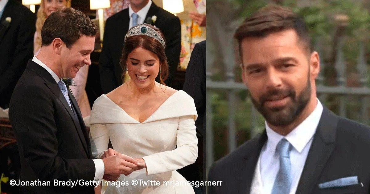sin titulo 1 58.png?resize=1200,630 - Aparece en la boda real el cantante Ricky Martin entrando triunfalmente tomado de la mano de su esposo