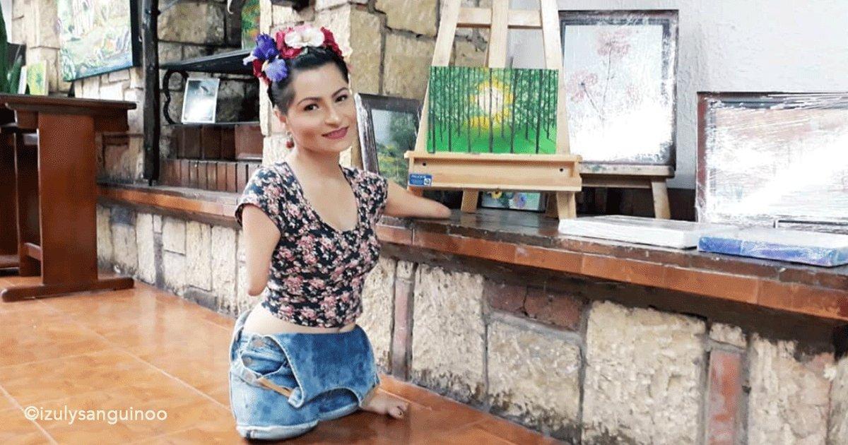 sin titulo 1 64.png?resize=1200,630 - Chica colombiana nació sin piernas y brazos, sufrió de muy joven discriminación y agresiones pero ahora es una chica triunfadora