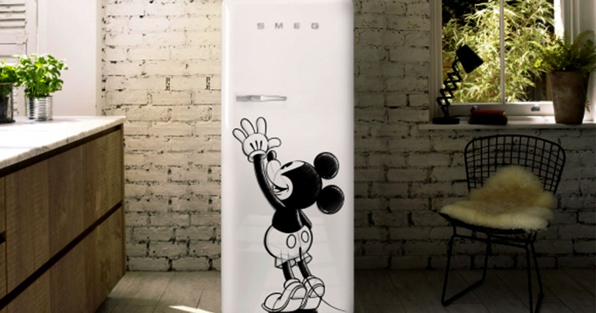 smeg teams up with disney for limited edition of disney fridge.jpg?resize=636,358 - Smeg Teams Up With Disney For Limited Edition Of Disney Fridge