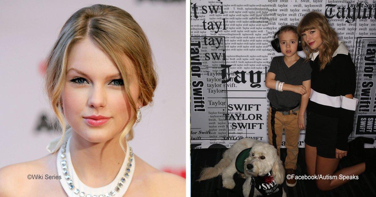 taylor.jpg?resize=300,169 - Taylor Swift conoció al niño con autismo que  hace años ayudó para que tuviera un perro de servicio