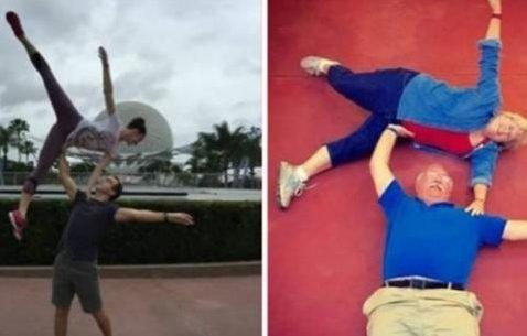 thu e1541746022671.jpg?resize=412,232 - 15 pais que imitaram as fotos dos filhos com perfeição... ou quase!