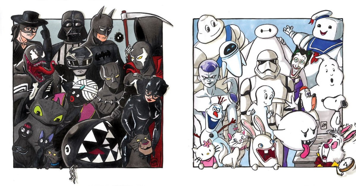 untitled design 19.png?resize=1200,630 - Artist Sorts Popular Characters By Color And The Result Looks Amazing!