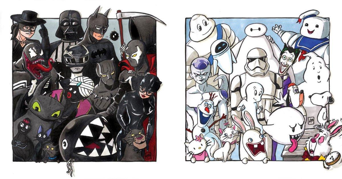 untitled design 19.png?resize=412,232 - Une artiste classe des personnages populaires par couleur et le résultat est incroyable!