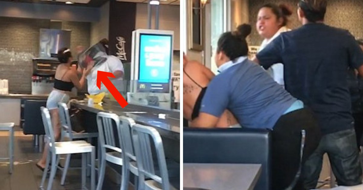 untitled design 24 1.png?resize=648,365 - McDonald's Staff Beats Female Customer After She Started A Brawl Over Free Soda