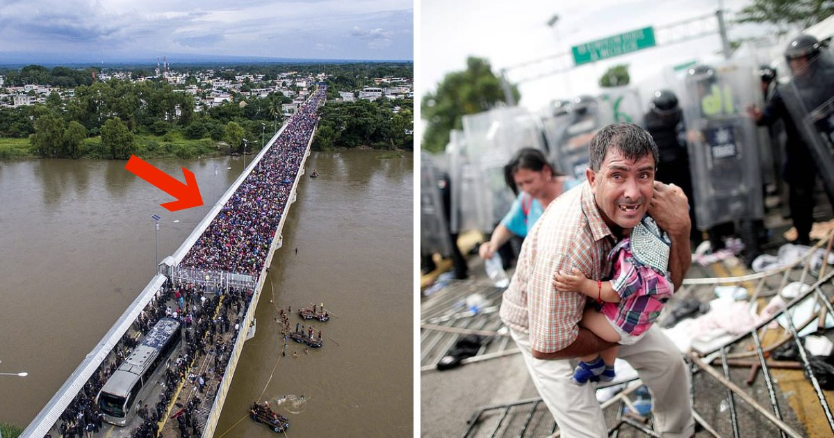 untitled design 3 4.png?resize=636,358 - Migration Crisis Continues As Large Migrant Caravan Attempts To Cross Mexico And Enter The States