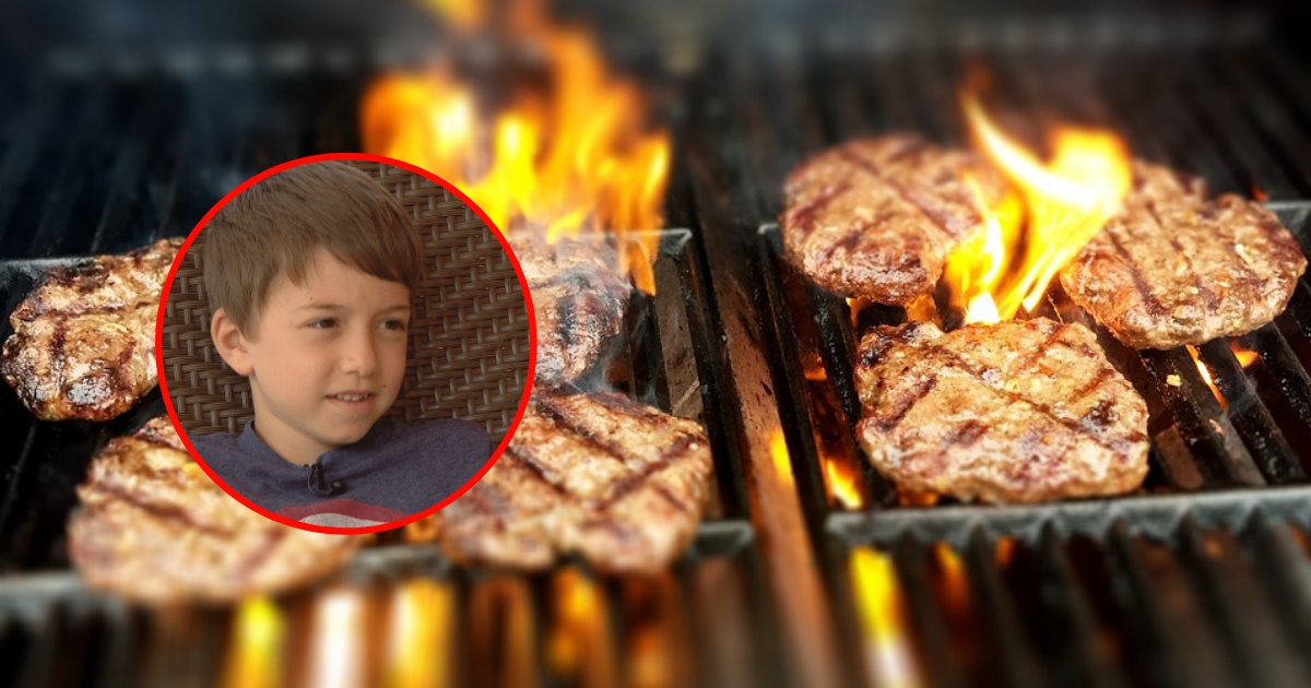 untitled design 34 1.png?resize=1200,630 - Lors d'une soirée d'été, un jeune garçon part aux urgences après la première bouchée de son Hamburger !