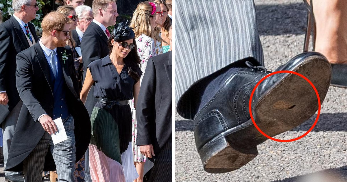 untitled design 49.png?resize=300,169 - Prince Harry Attends Royal Wedding In Worn-Out Shoes With A Hole In The Sole