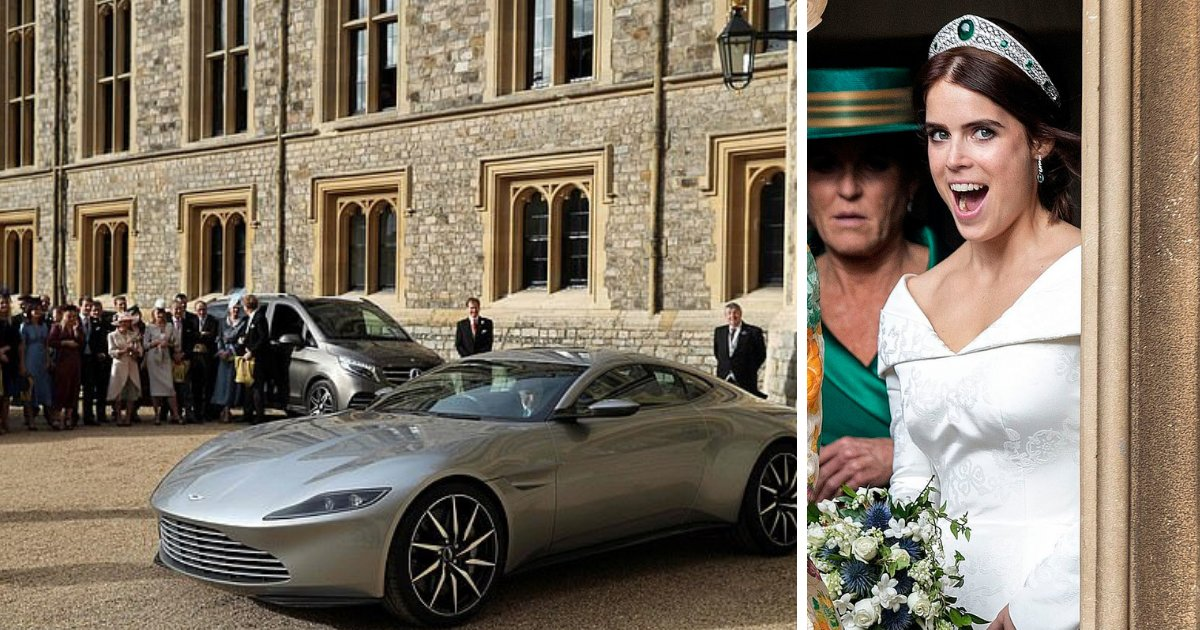 untitled design 50.png?resize=636,358 - Newlywed Princess Eugenie And Jack Make Their Getaway In Lavish Aston Martin DB10
