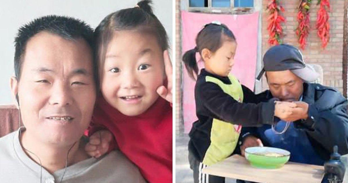 untitled design 70.png?resize=412,232 - Una niña de 6 años cuida a su padre discapacitado después de que su madre los abandonara