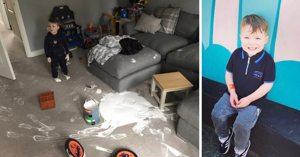 untitled design 78 1.png?resize=636,358 - Painting Spree! Toddler Destroys $5,000 Living Room In Five Minutes