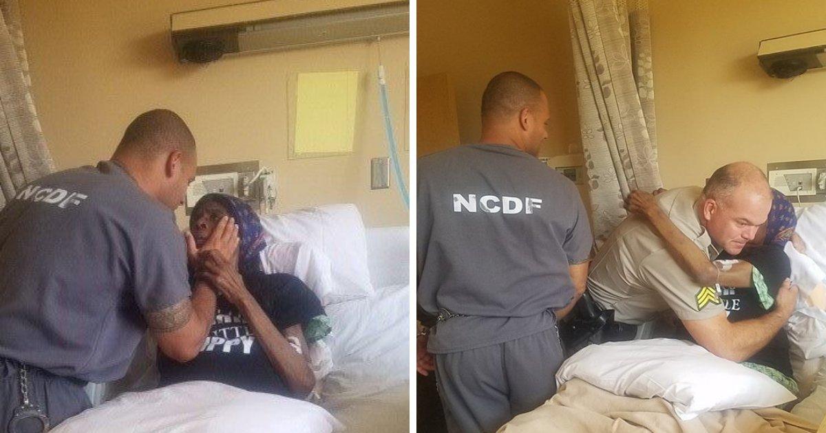 untitled design 83.png?resize=412,275 - Oficiais compassivos acompanham presos para ver mãe em seus momentos finais