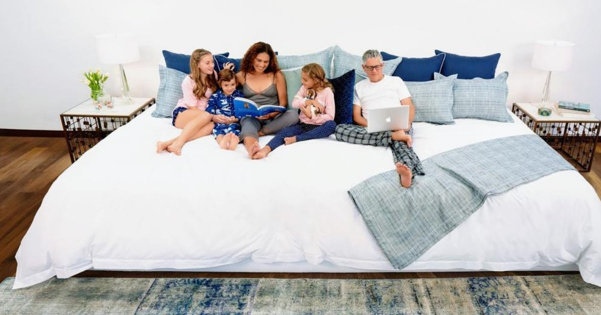 untitled design 9.png?resize=1200,630 - People Obsessed With This Massive 12-Foot Bed That Can Fit Five Adults!