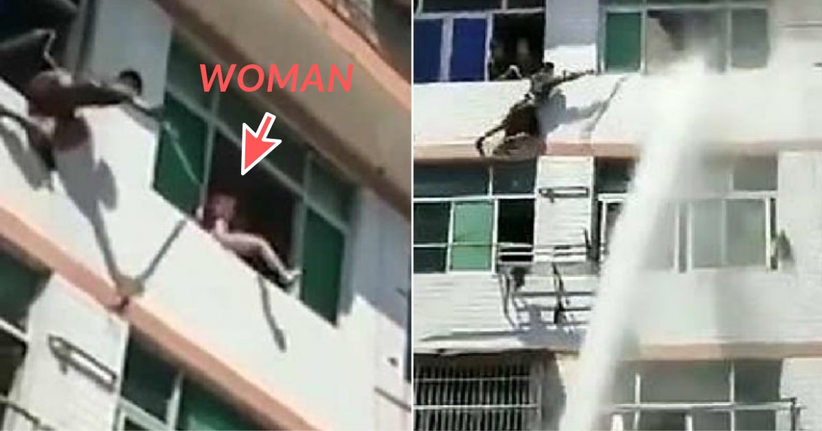 untitled design.png?resize=300,169 - Firefighters Blast Woman With a Water Canon to Prevent Her from Committing Suicide