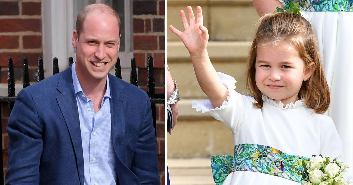 william charlotte.jpg?resize=636,358 - Royal Fan Posts A Childhood Picture Of Prince William And He Looks Exactly Like Princess Charlotte