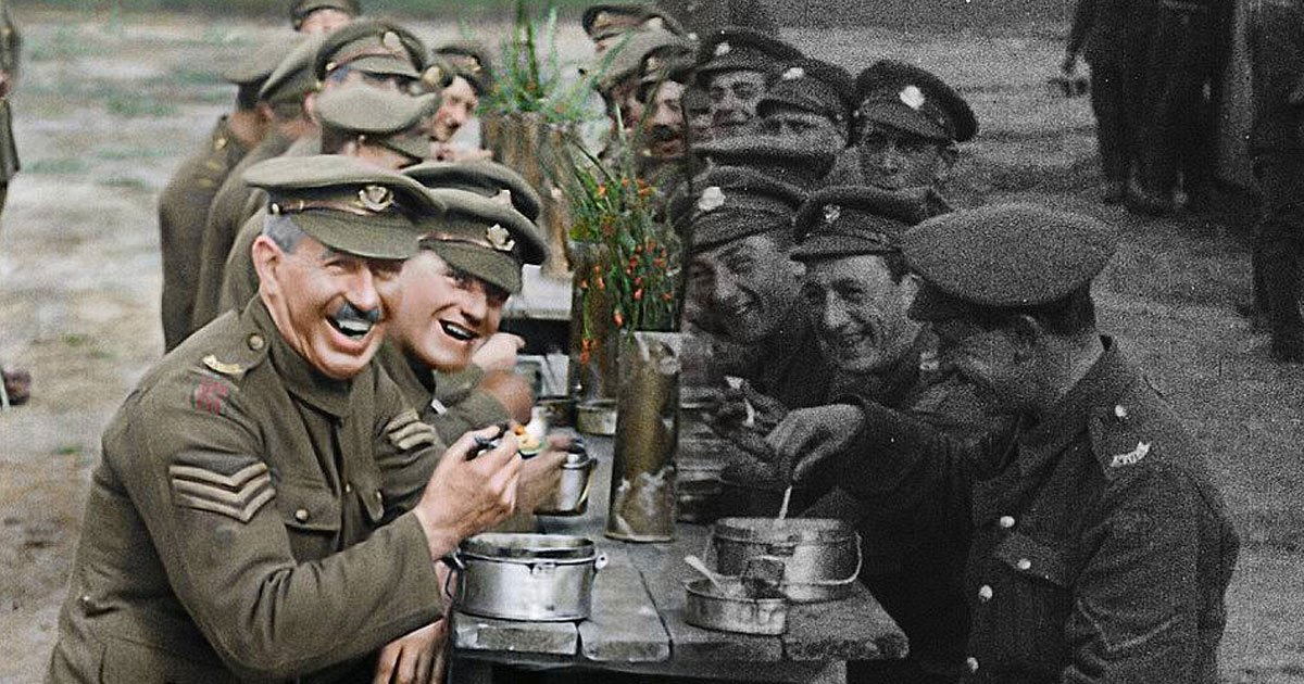 ww1.jpg?resize=732,290 - Hundreds Of World War One Clips Are Turned Into A Colourful Footage And The Result Is Astonishing