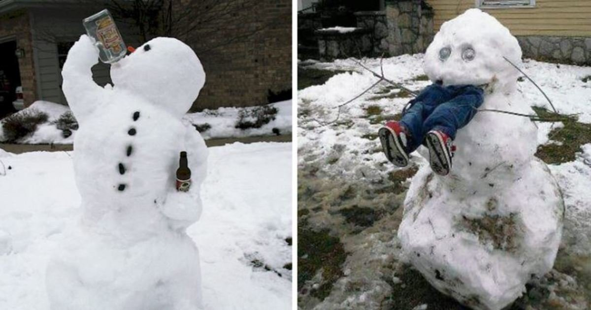 15 18.jpg?resize=1200,630 - 15 Hilariously Creative Snowmen That Will Take Winter To The Next Level. #7 Made My Day.