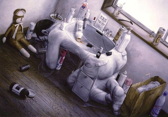 181126 215.jpg?resize=1200,630 - 讓人一秒落淚,日本畫家石田徹也畫出現代人藏在內心最深處的憂鬱