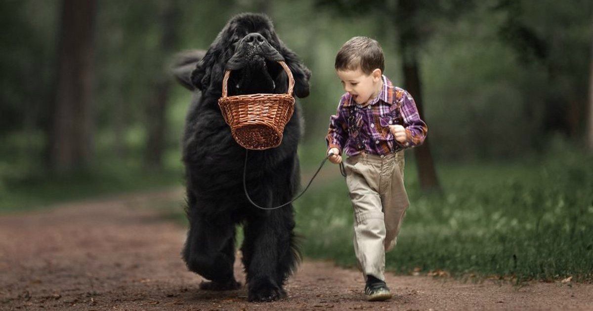 2 416.jpg?resize=1200,630 - Tiny Children and Their Huge Dogs Photographed in Adorable Portraits by Andy Seliverstoff