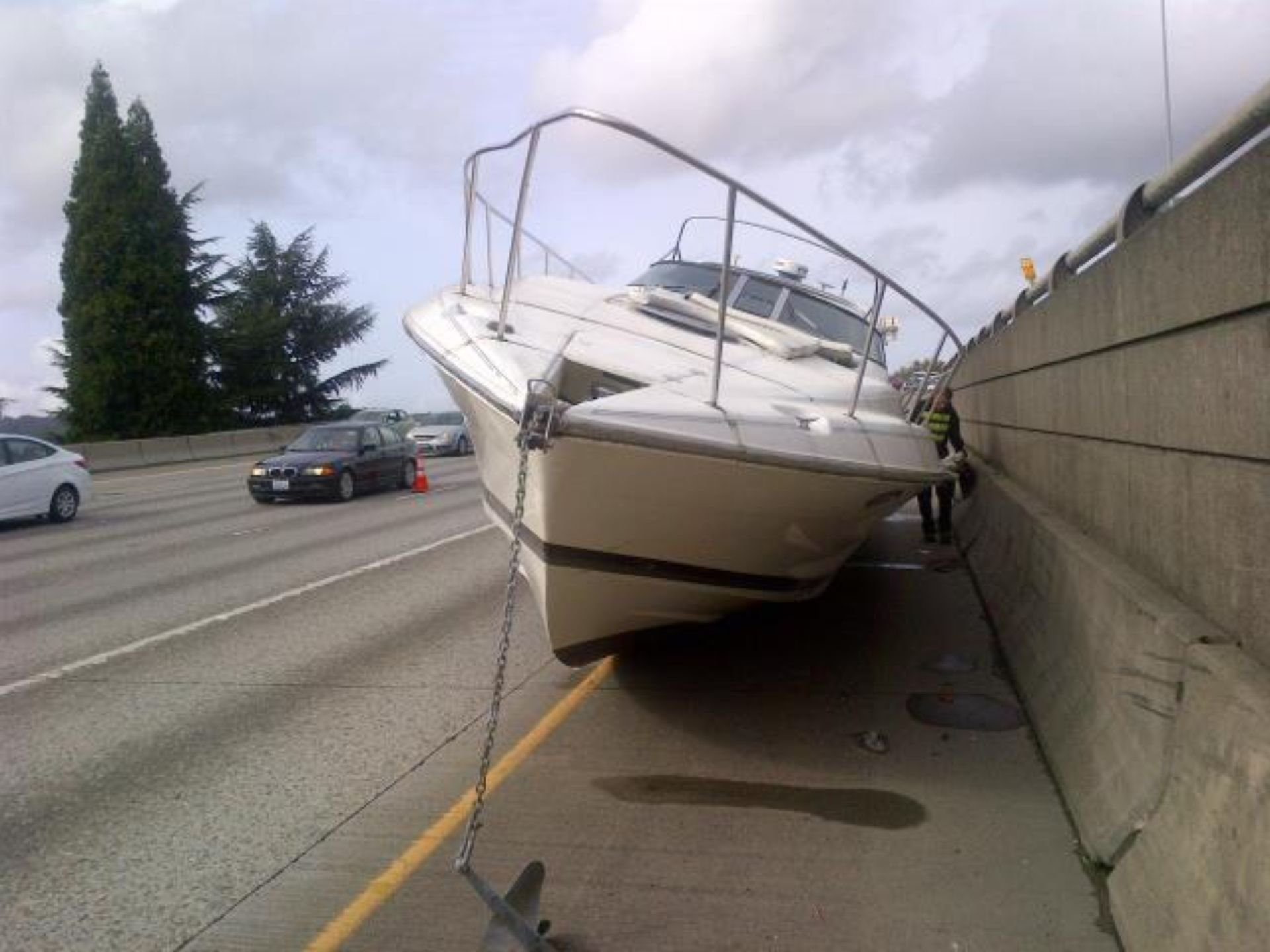 Image result for boat on the road