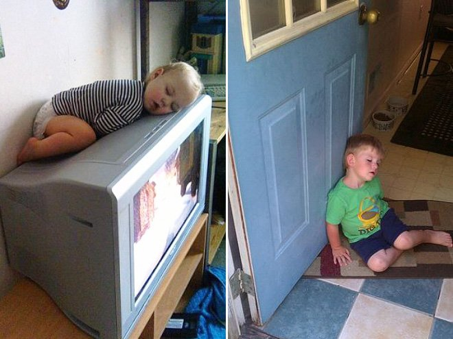 24 Hilarious Photos Proving That Kids Can Literally Sleep Anywhere. #8 Made My Day, LOL!