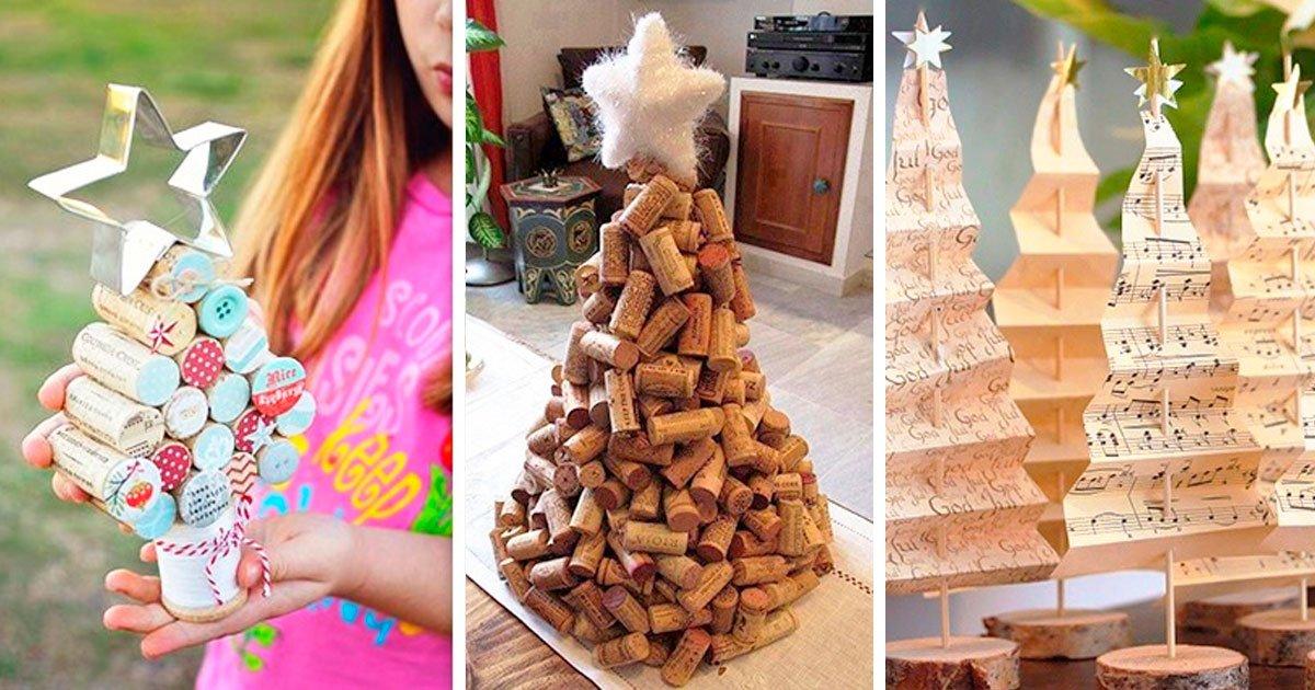 5 155.jpg?resize=1200,630 - 10 Ideas originales para un árbol de Navidad hecho en casa